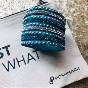 Jewelry - Single Wrap Teal Bracelet Faux Leather